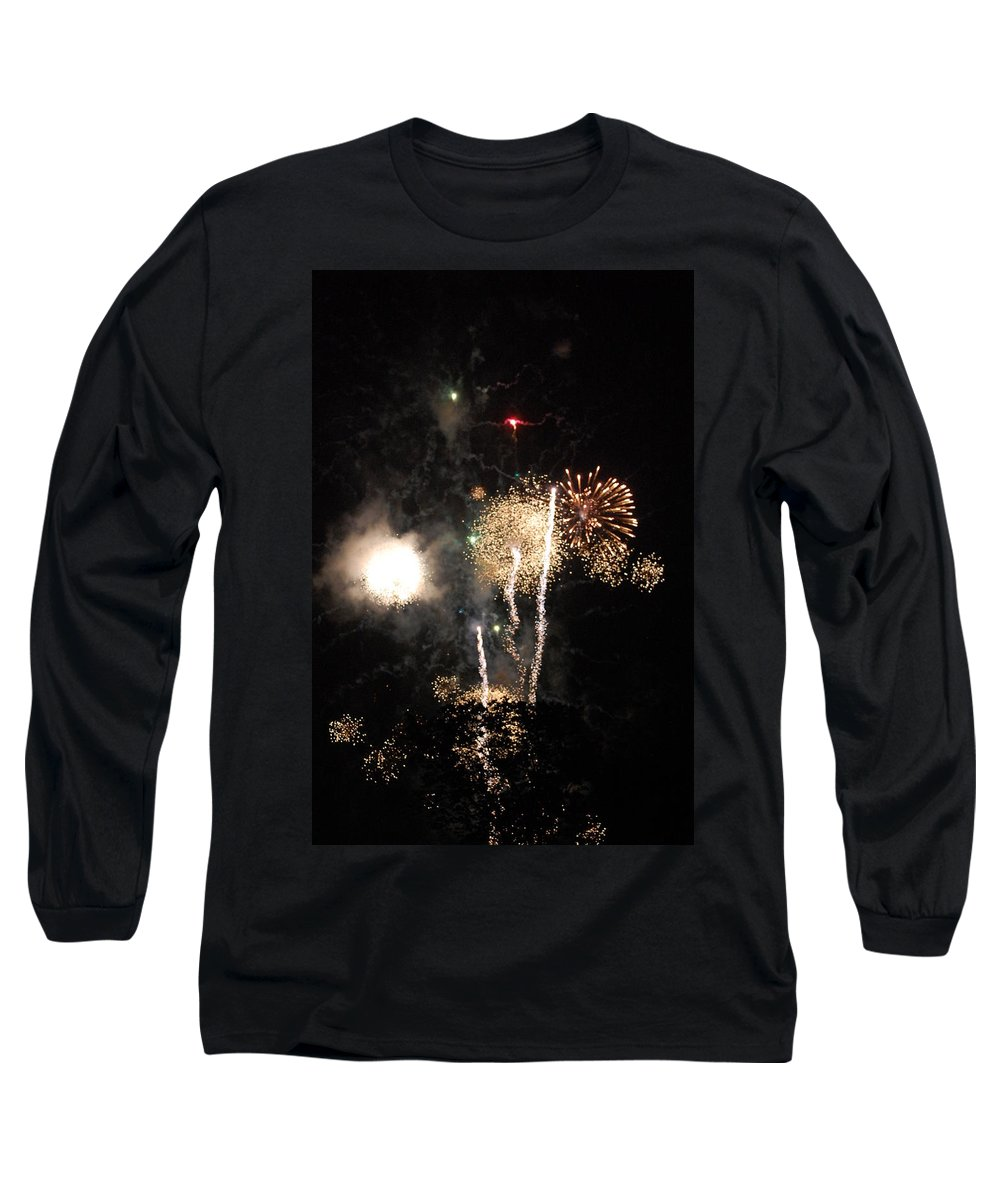 Firwworks Long Sleeve T-Shirt featuring the photograph Bombs1 by David Lane