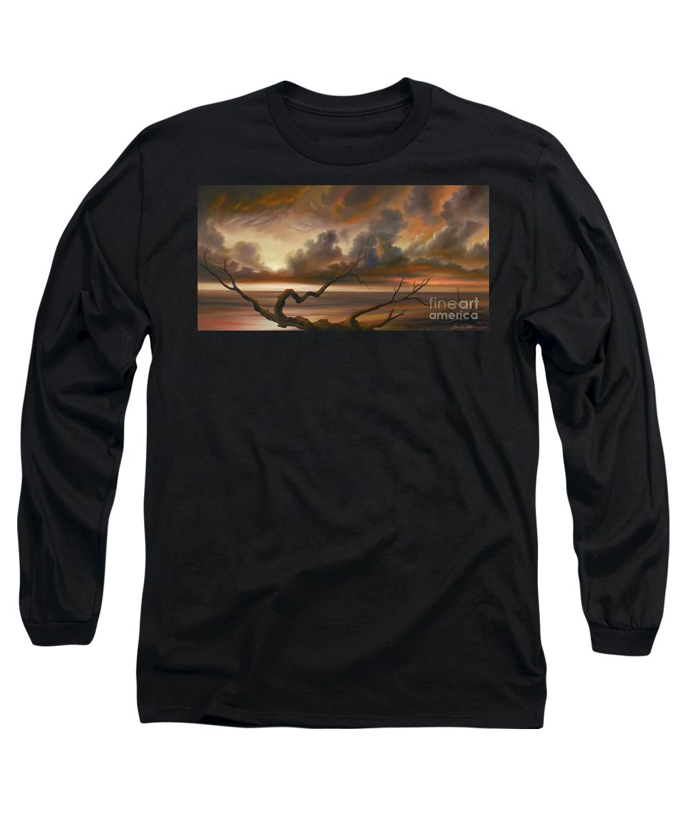 Ocean Long Sleeve T-Shirt featuring the painting Botany Bay by James Christopher Hill