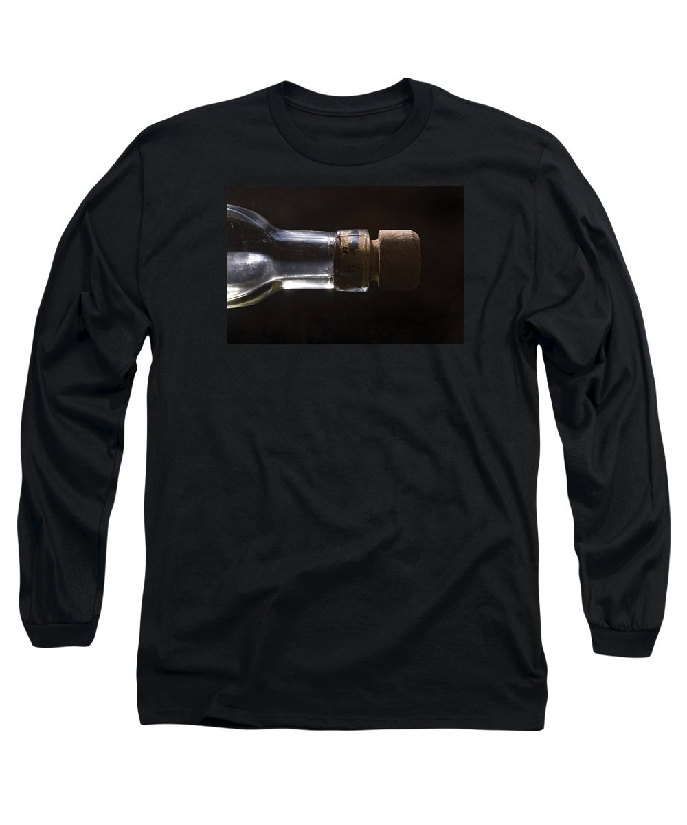 Cork Long Sleeve T-Shirt featuring the photograph Bottle And Cork-1 by Steve Somerville
