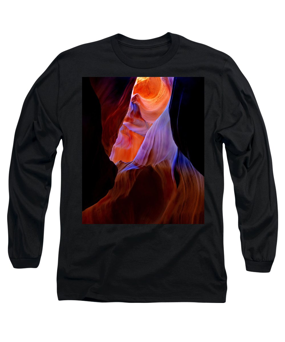 Canyon Long Sleeve T-Shirt featuring the photograph Bottled Light by Mike Dawson