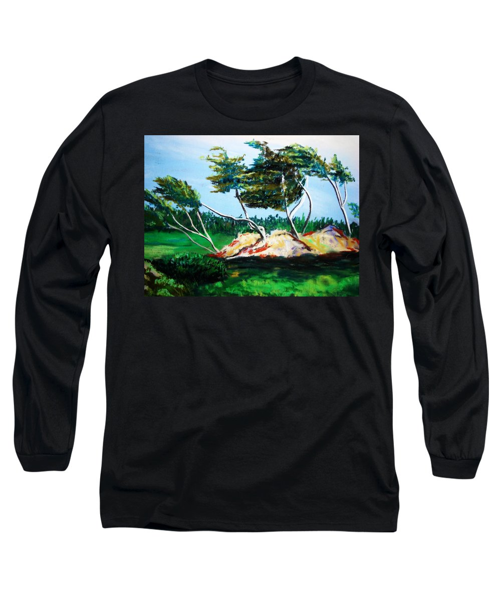 California Long Sleeve T-Shirt featuring the painting Breezy by Melinda Etzold