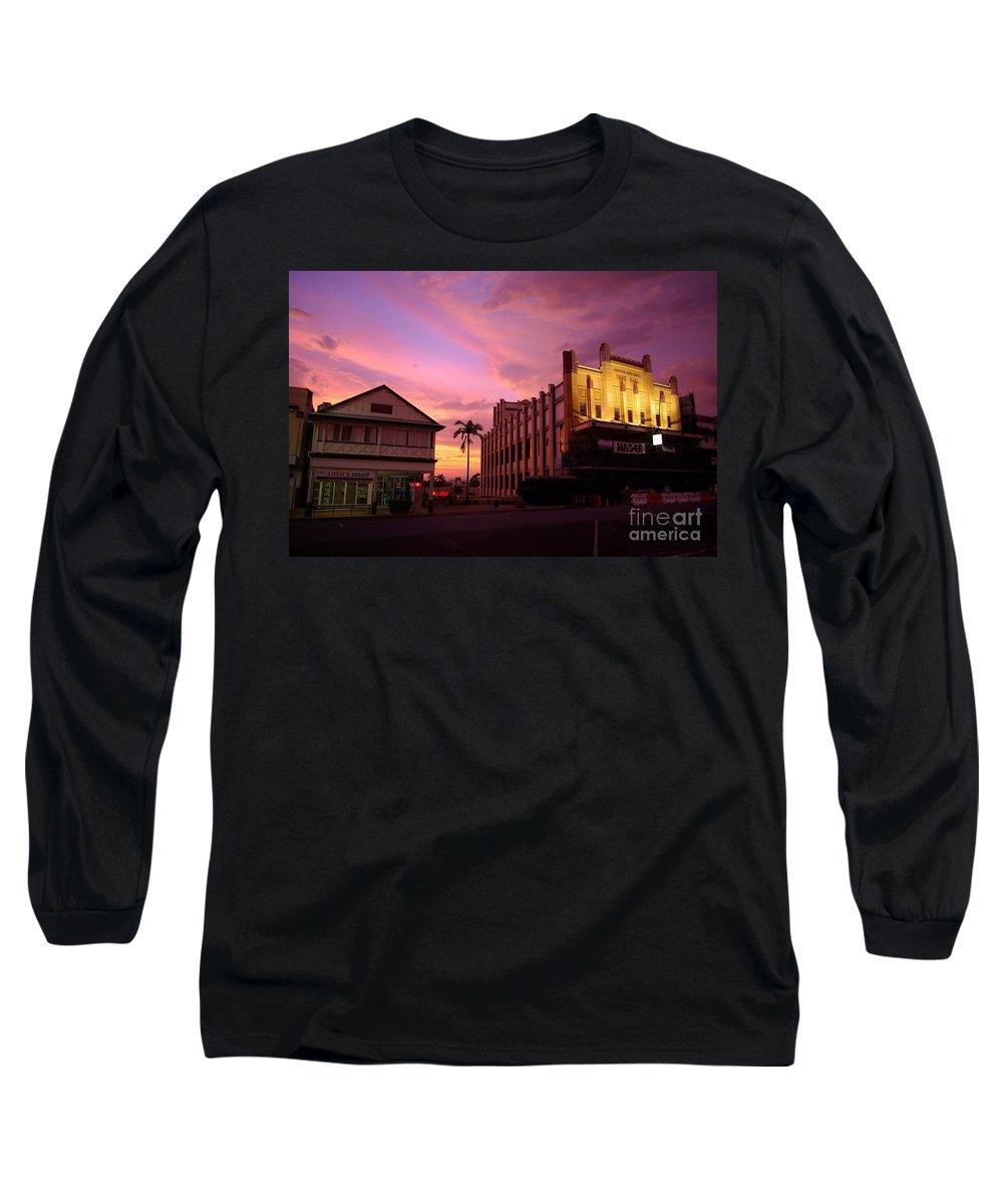 Evening Long Sleeve T-Shirt featuring the photograph Brewing Storm by Kerryn Madsen- Pietsch
