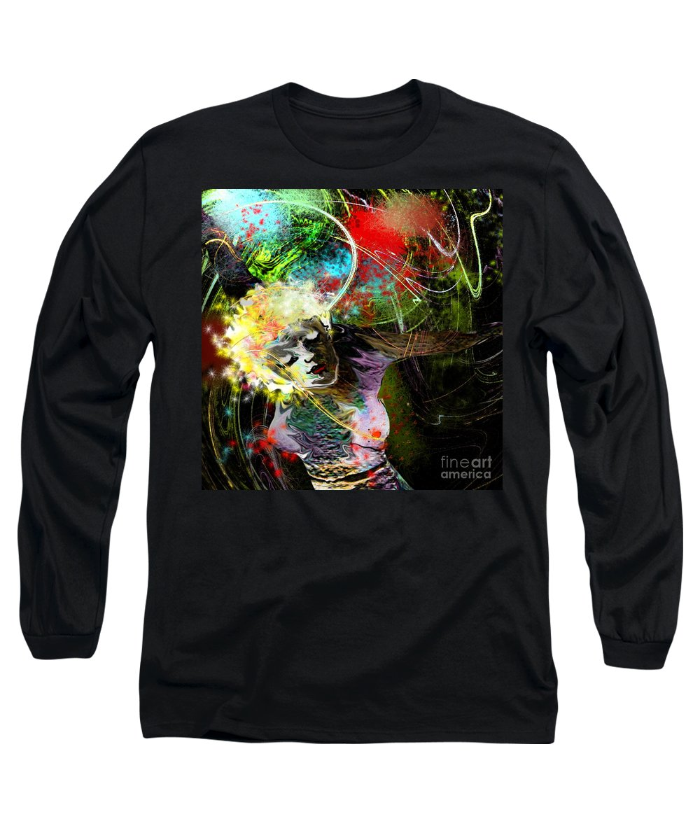 Fantasy Long Sleeve T-Shirt featuring the painting Bride Of Halos by Miki De Goodaboom