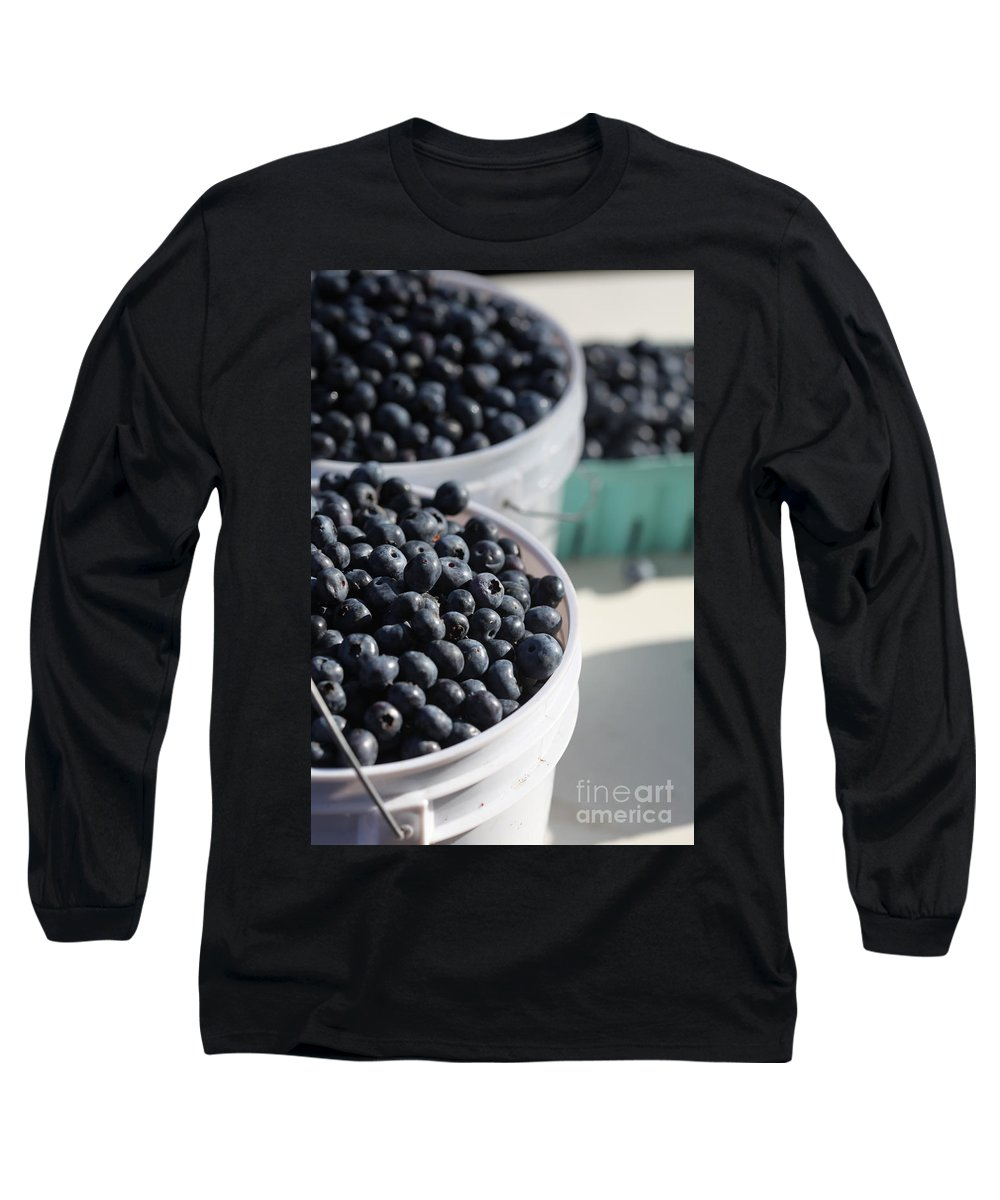 Blue Long Sleeve T-Shirt featuring the photograph Buckets Of Blue... by Nadine Rippelmeyer