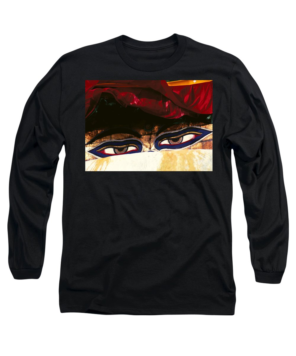 Eyes Long Sleeve T-Shirt featuring the photograph Buddha Eyes by Patrick Klauss