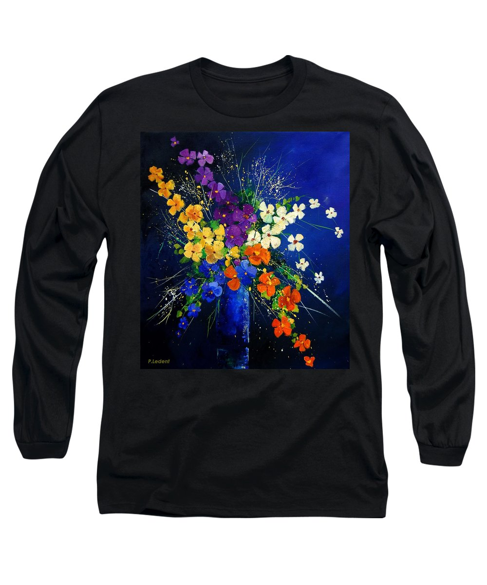 Poppies Long Sleeve T-Shirt featuring the print Bunch 0408 by Pol Ledent