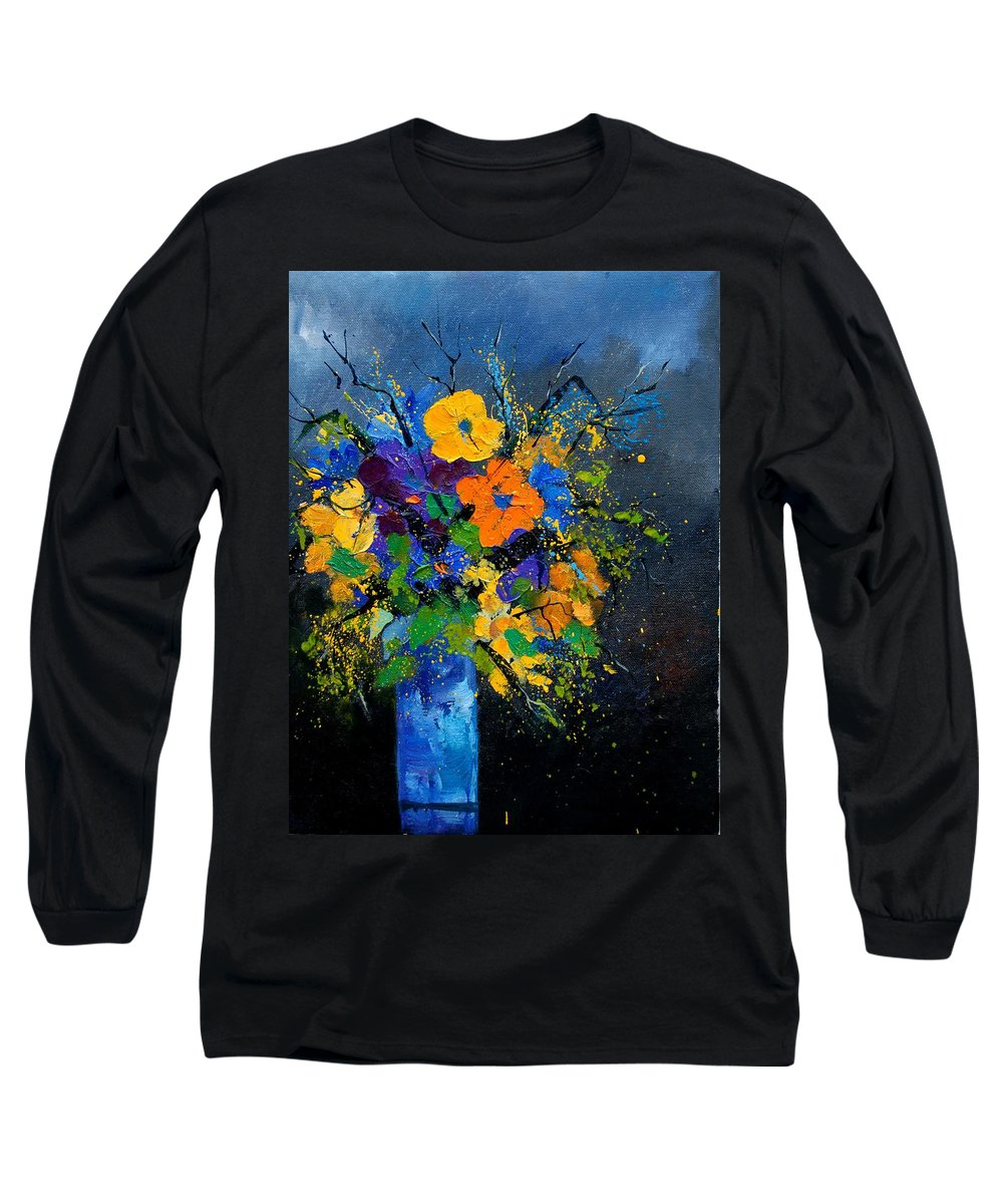 Poppies Long Sleeve T-Shirt featuring the painting Bunch 1007 by Pol Ledent