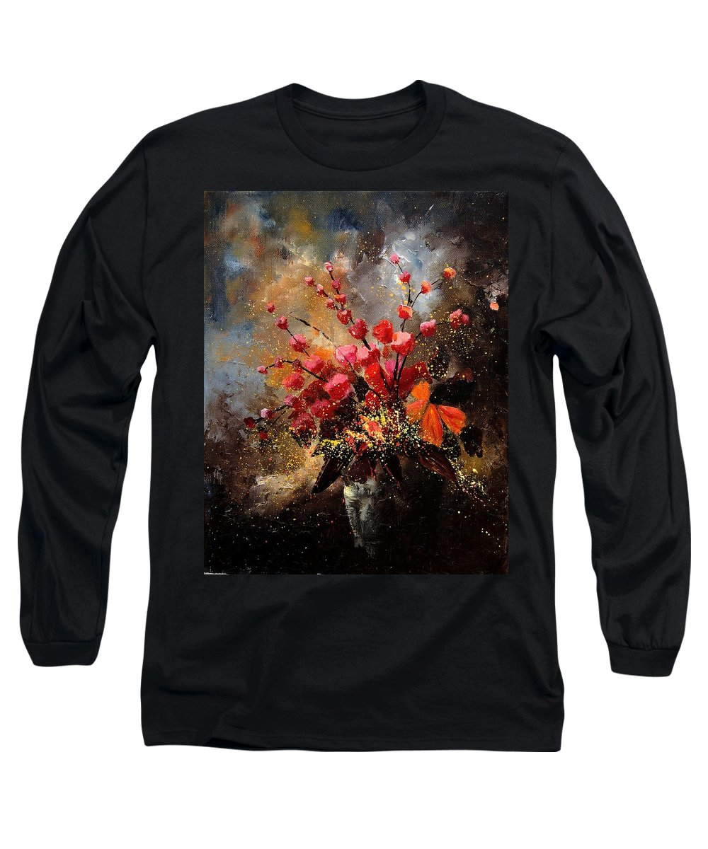 Poppies Long Sleeve T-Shirt featuring the painting Bunch 1207 by Pol Ledent