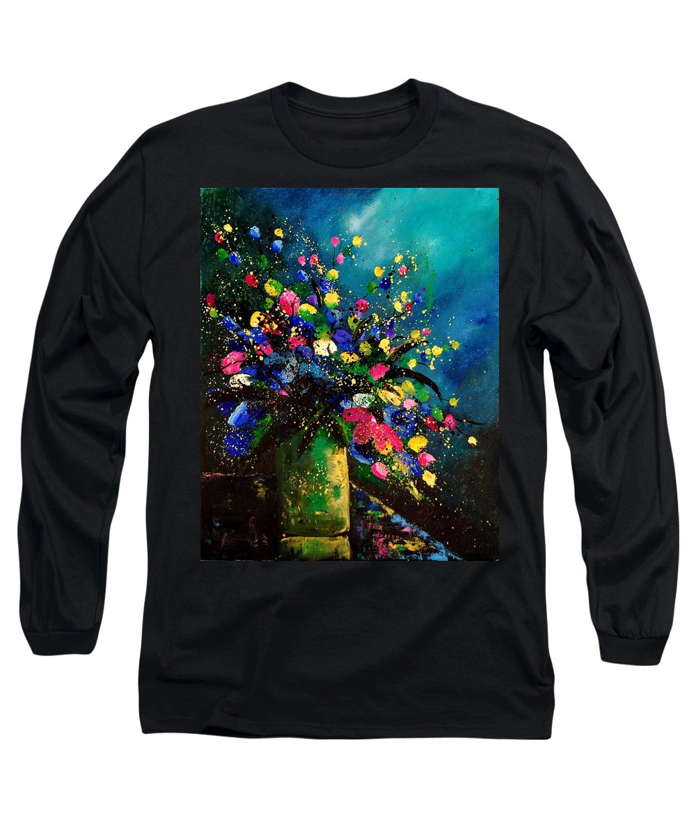Poppies Long Sleeve T-Shirt featuring the painting Bunch 45 by Pol Ledent