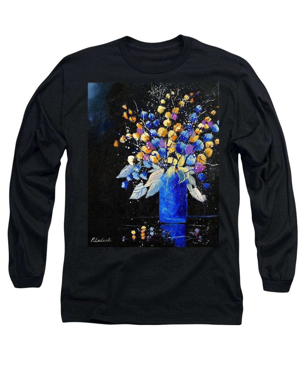 Flowers Long Sleeve T-Shirt featuring the painting Bunch 451008 by Pol Ledent