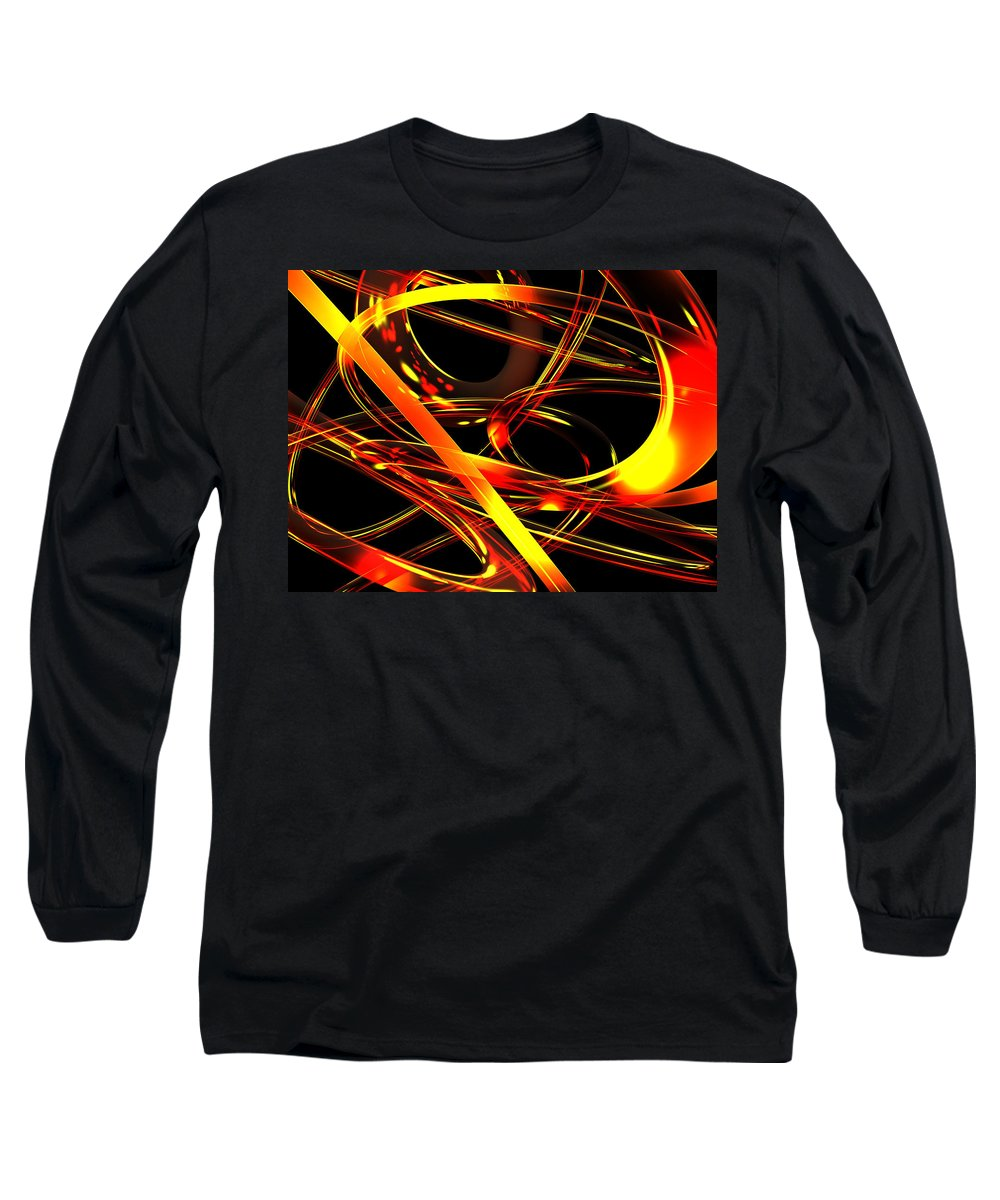 Scott Piers Long Sleeve T-Shirt featuring the digital art BWS by Scott Piers
