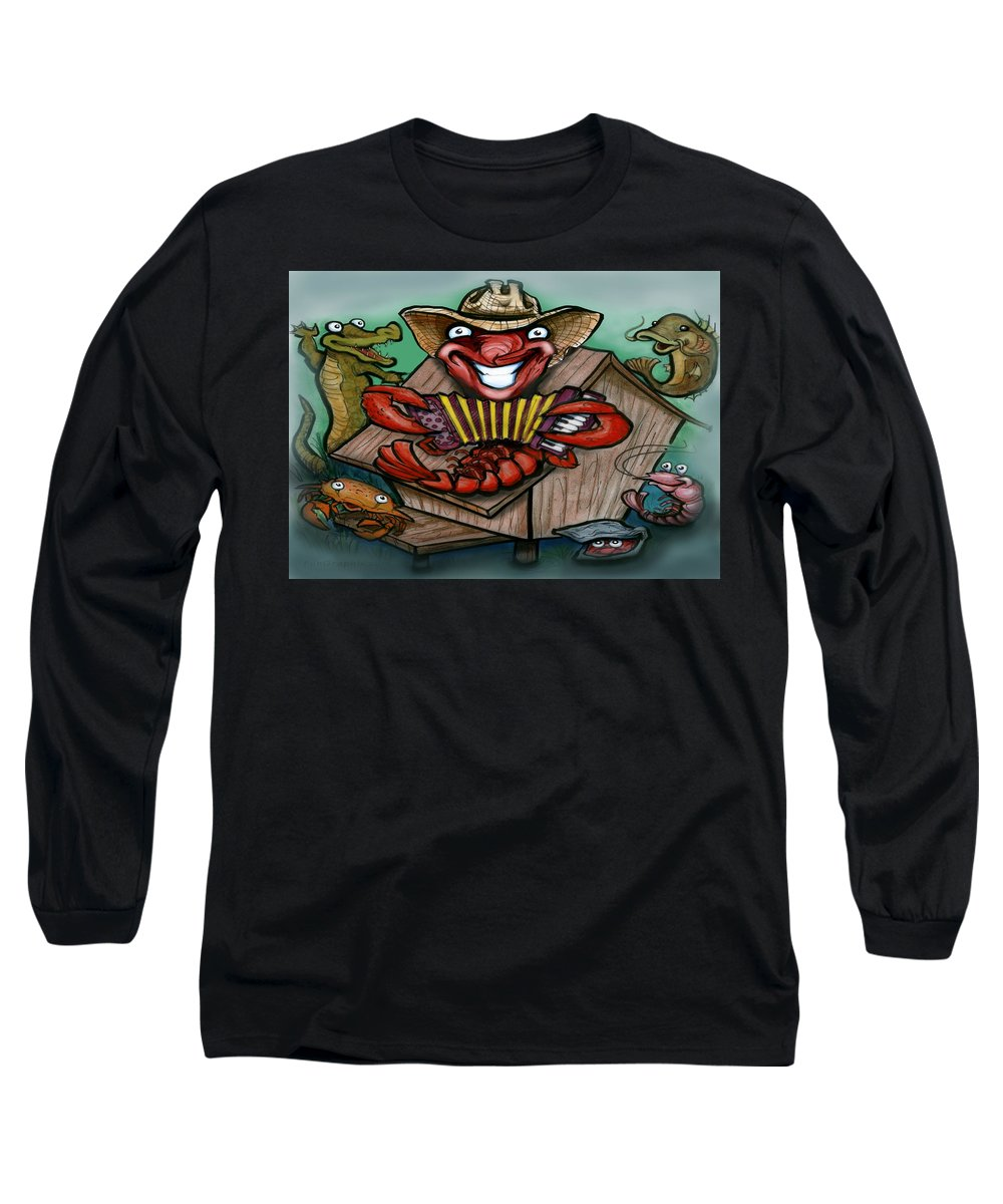 Cajun Long Sleeve T-Shirt featuring the greeting card Cajun Critters by Kevin Middleton