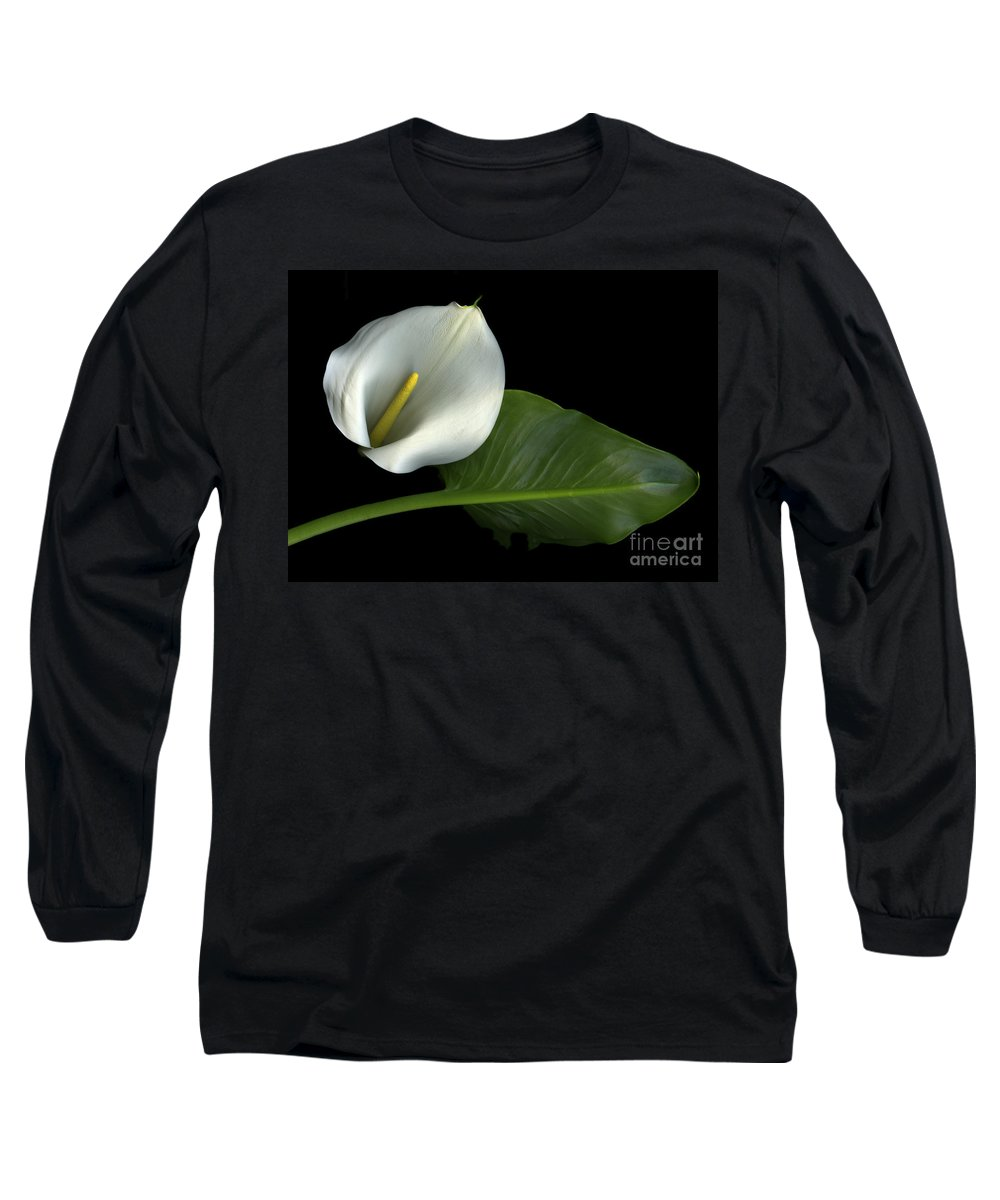 Scanography Long Sleeve T-Shirt featuring the photograph Calla Lily by Christian Slanec