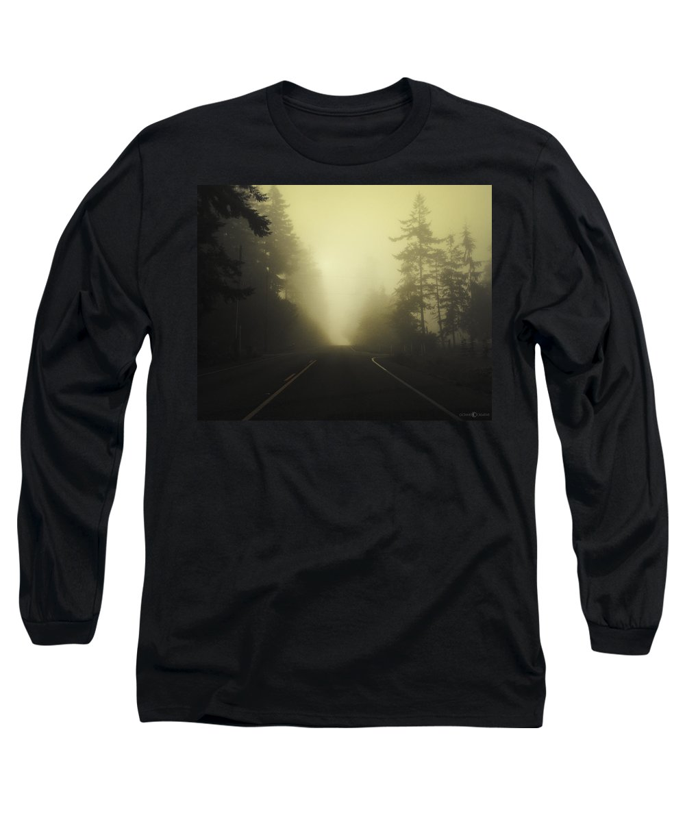 Fog Long Sleeve T-Shirt featuring the photograph Camano Island Fog by Tim Nyberg