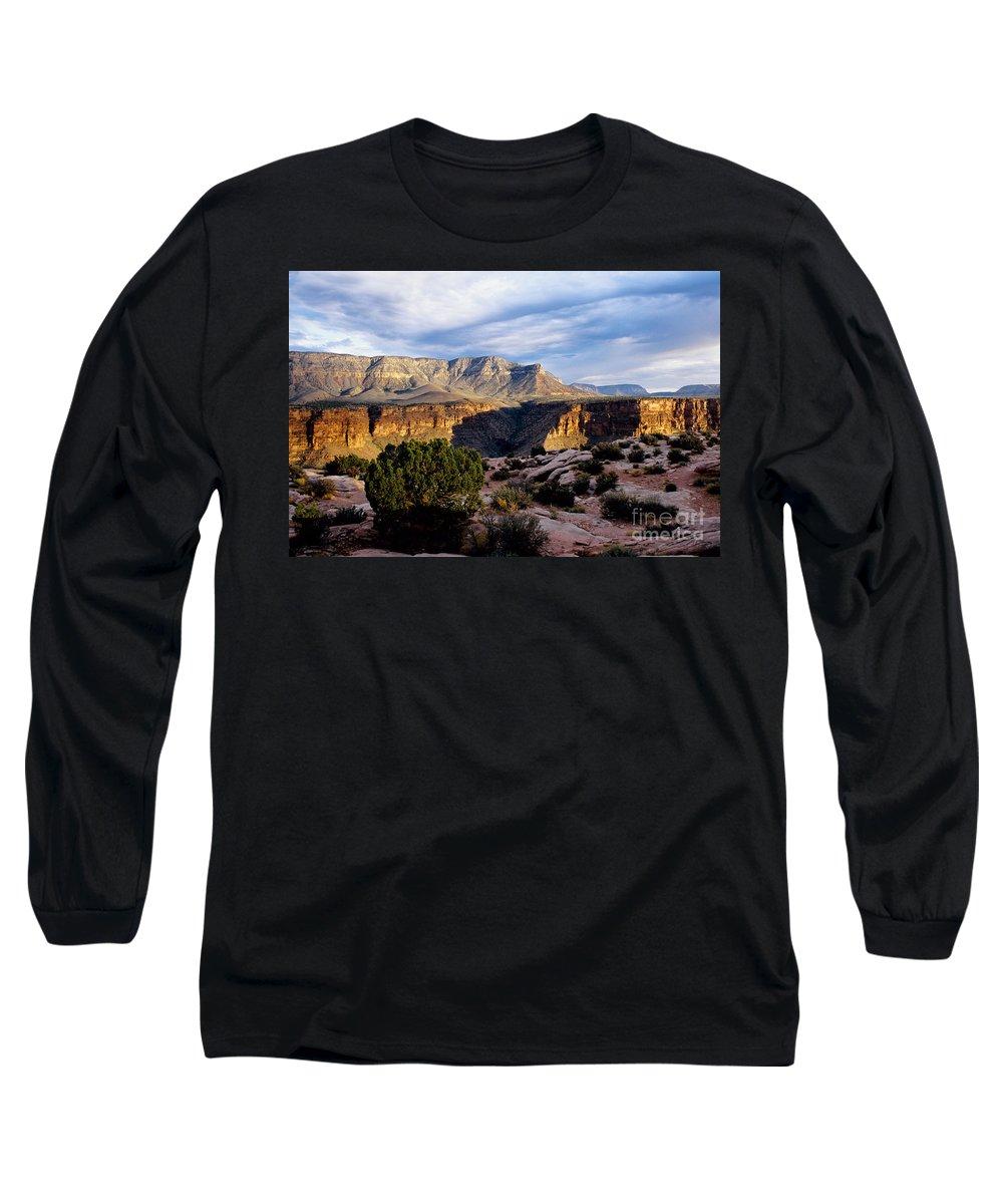 Toroweap Long Sleeve T-Shirt featuring the photograph Canyon Walls At Toroweap by Kathy McClure