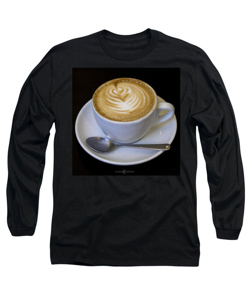 Coffee Long Sleeve T-Shirt featuring the photograph Cappuccino by Tim Nyberg
