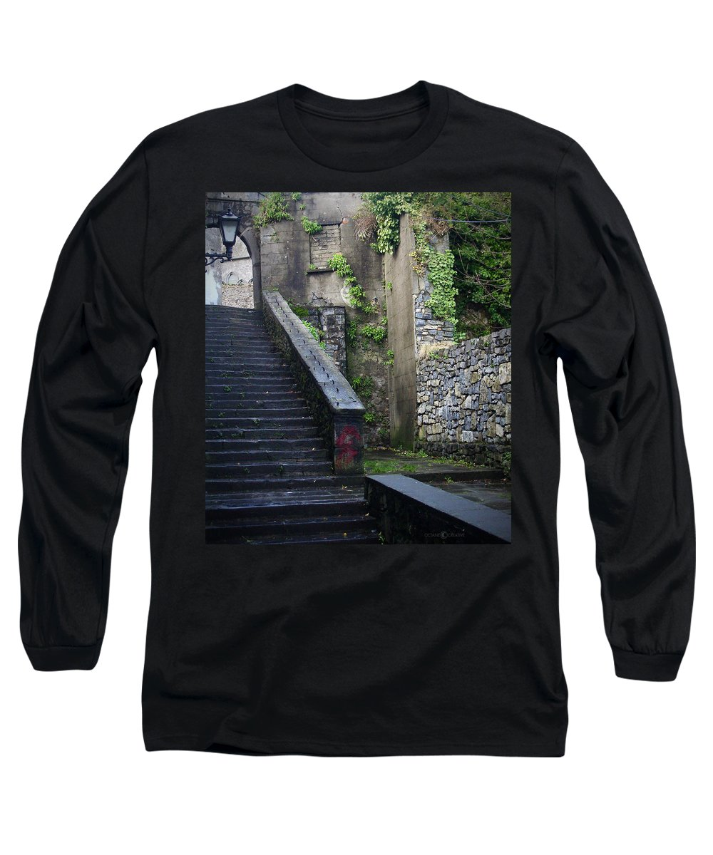 Stairs Long Sleeve T-Shirt featuring the photograph Cathedral Stairs by Tim Nyberg
