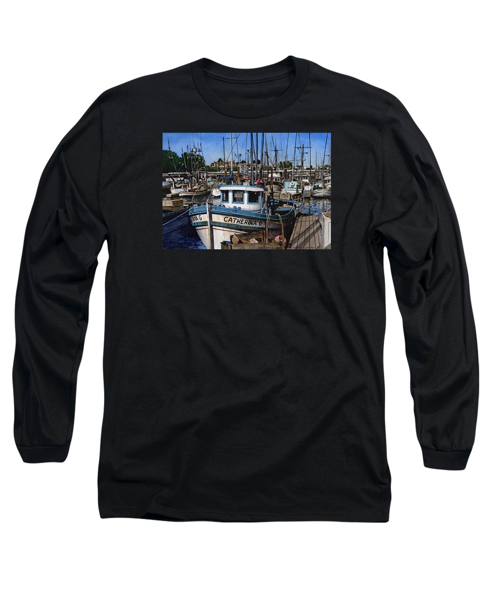 Transportation Long Sleeve T-Shirt featuring the painting Catherina G by James Robertson
