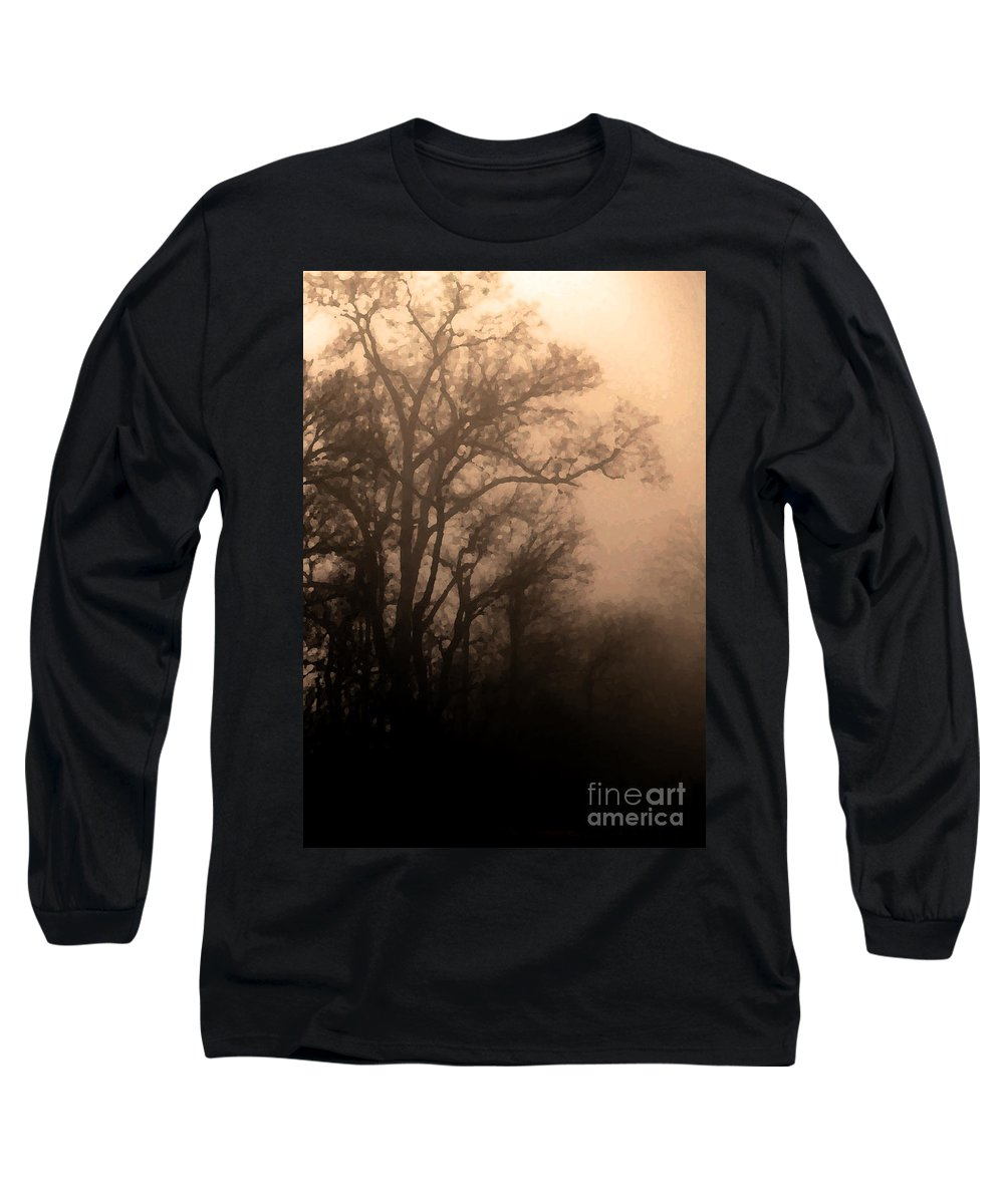 Soft Long Sleeve T-Shirt featuring the photograph Caught Between Light And Dark by Amanda Barcon
