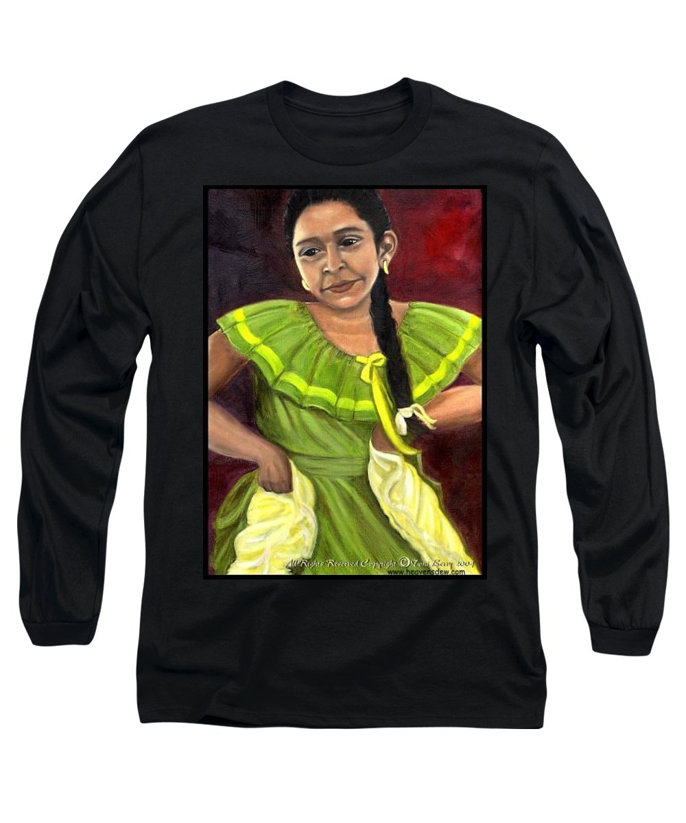 Long Sleeve T-Shirt featuring the painting Cecelia by Toni Berry