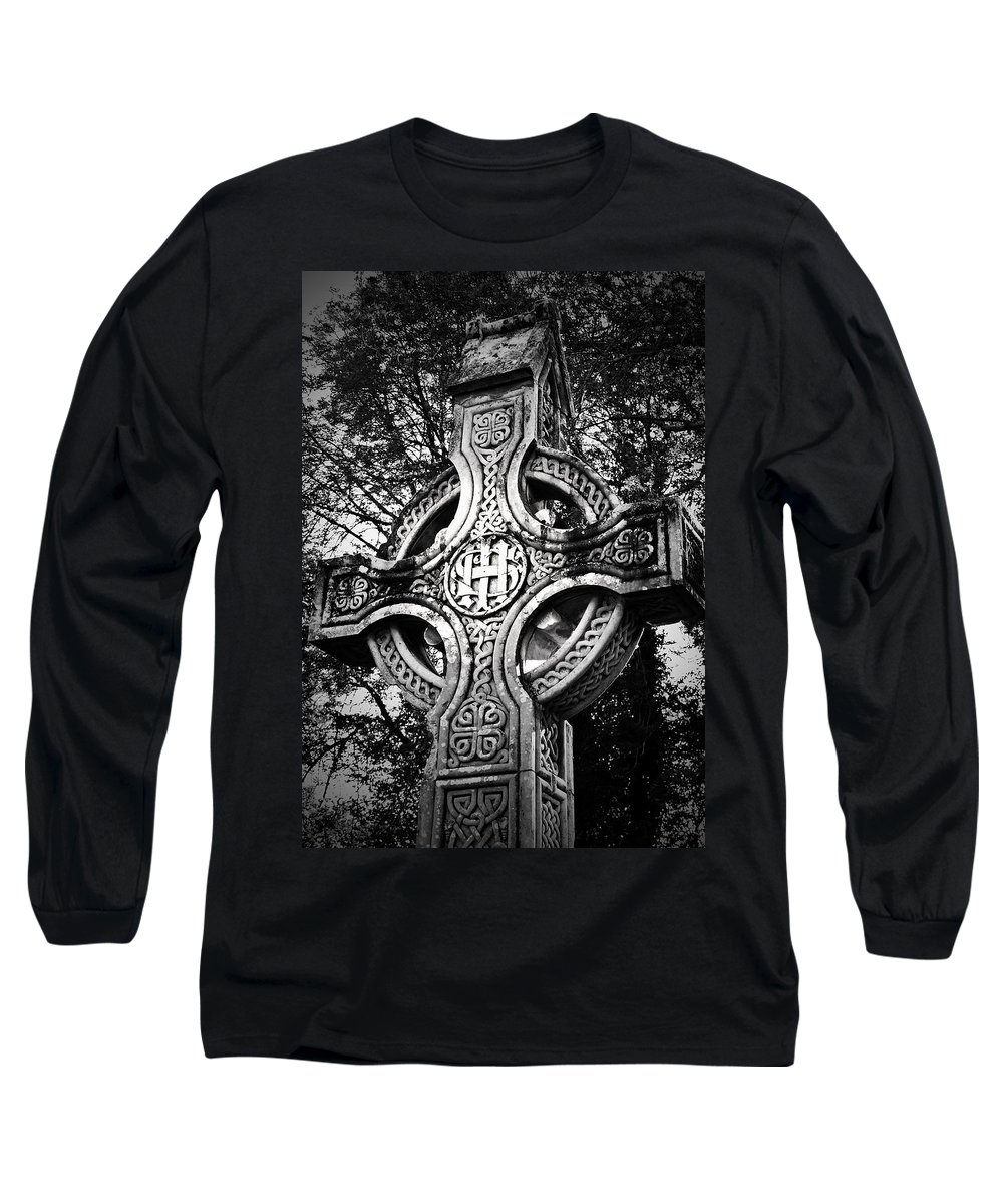 Irish Long Sleeve T-Shirt featuring the photograph Celtic Cross Detail Killarney Ireland by Teresa Mucha