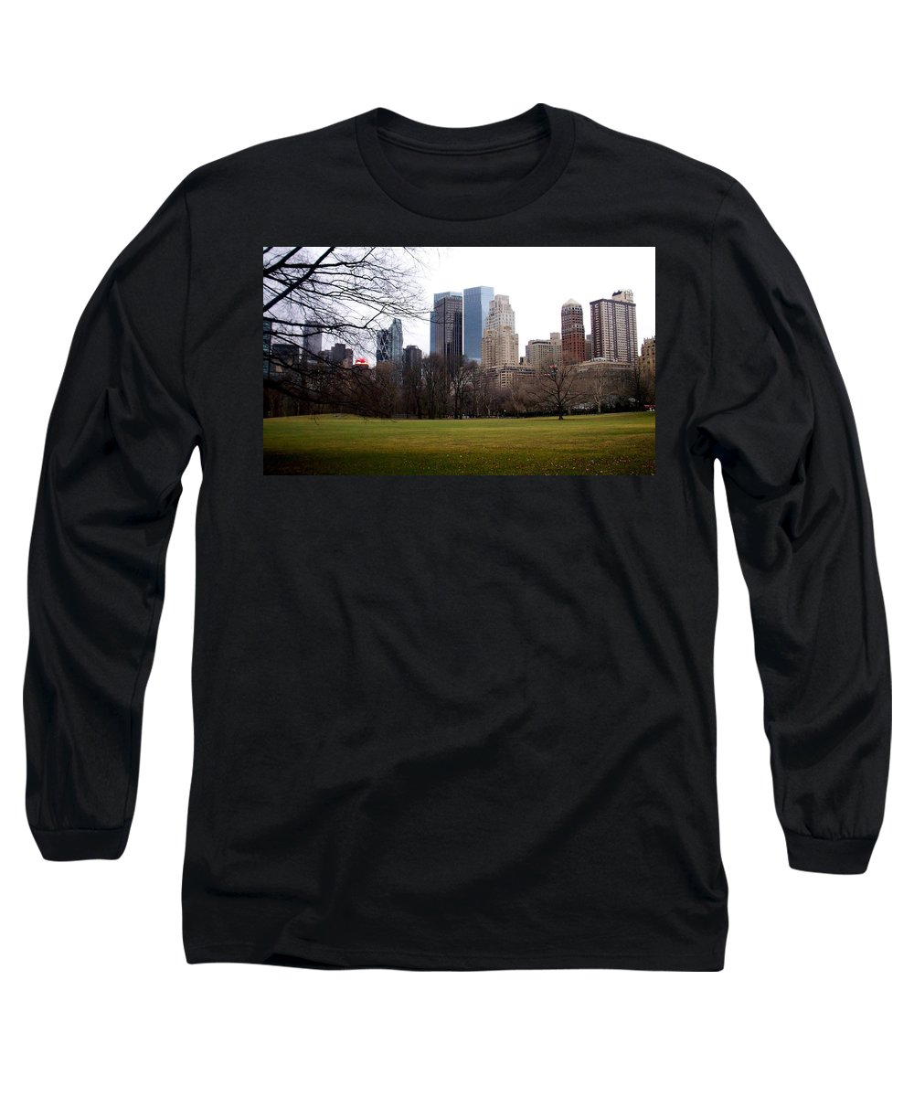 Central Park Long Sleeve T-Shirt featuring the photograph Central Park by Anita Burgermeister
