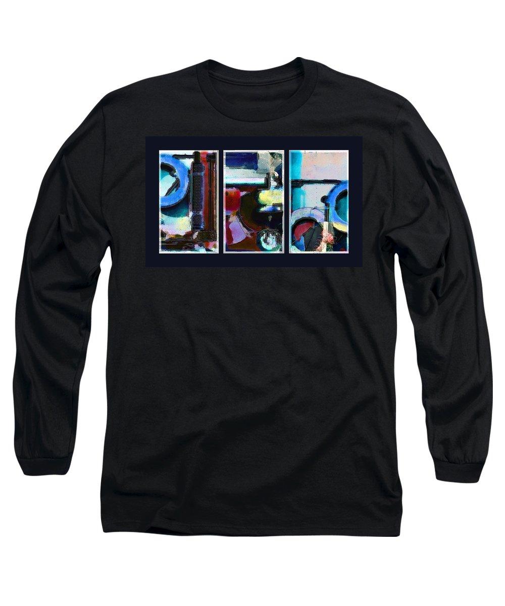 Abstract Long Sleeve T-Shirt featuring the digital art Centrifuge by Steve Karol