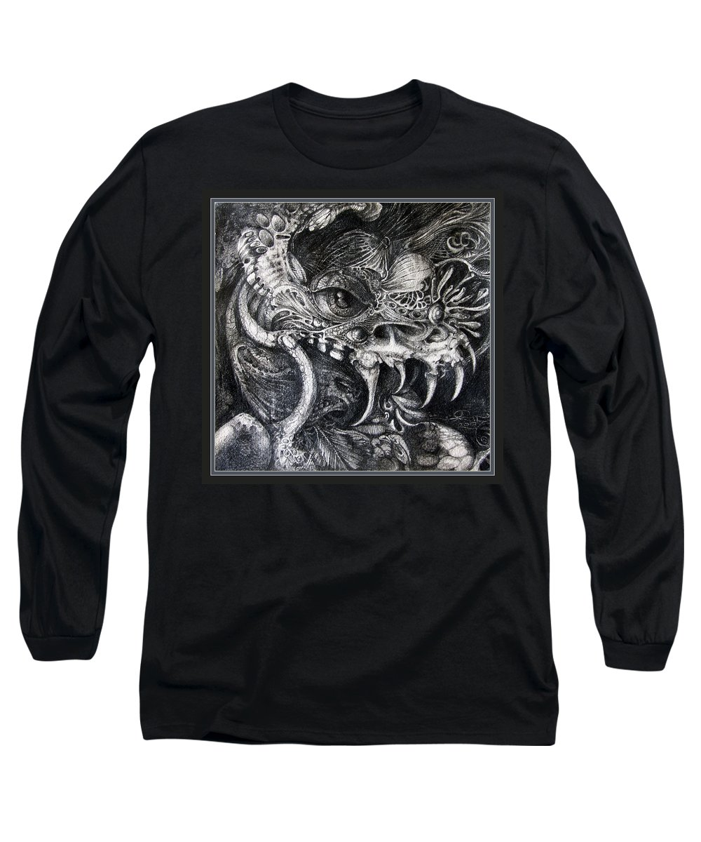 Long Sleeve T-Shirt featuring the drawing Cherubim Of Beasties by Otto Rapp