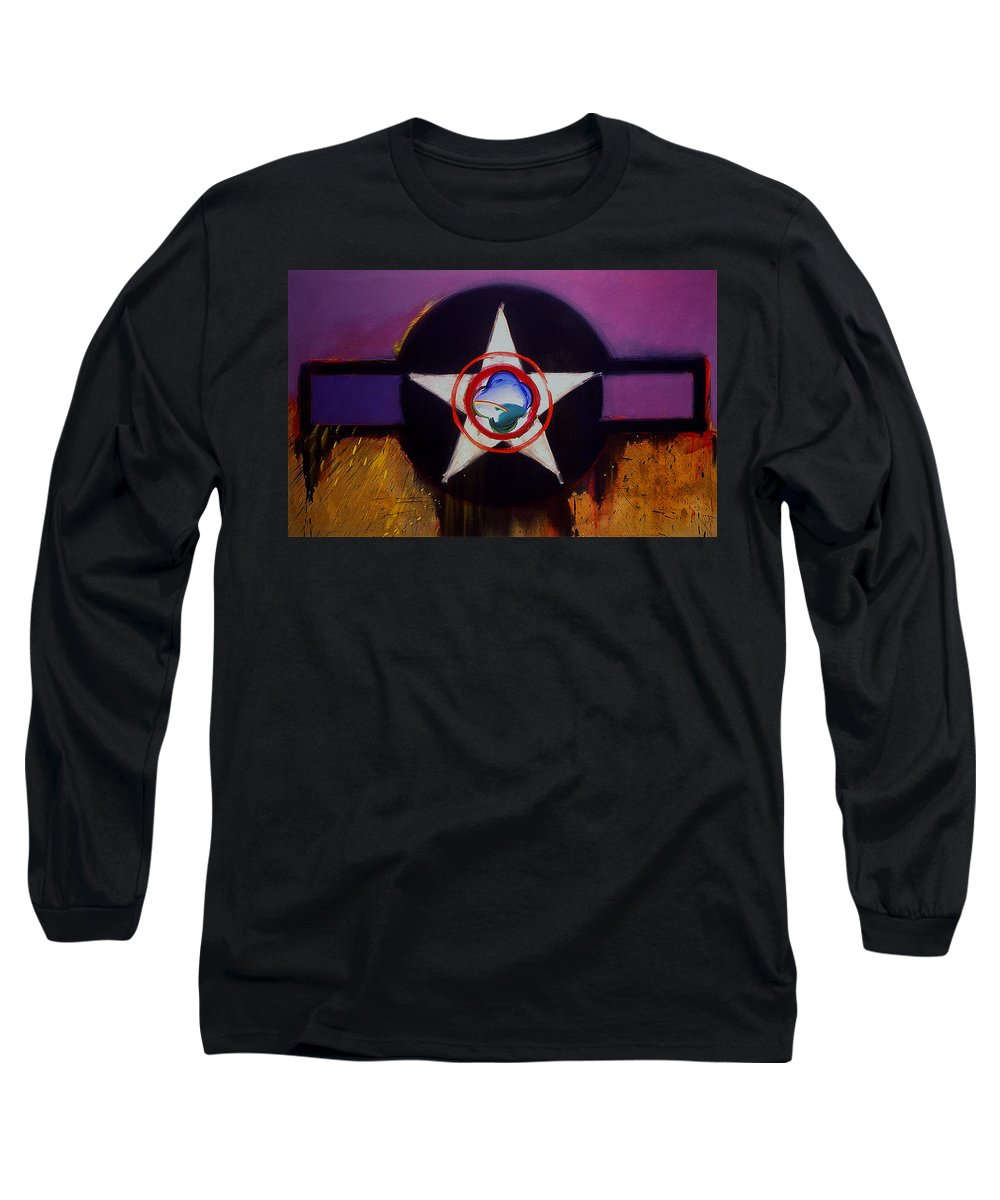 Air Force Insignia Long Sleeve T-Shirt featuring the painting Cheyenne Autumn by Charles Stuart