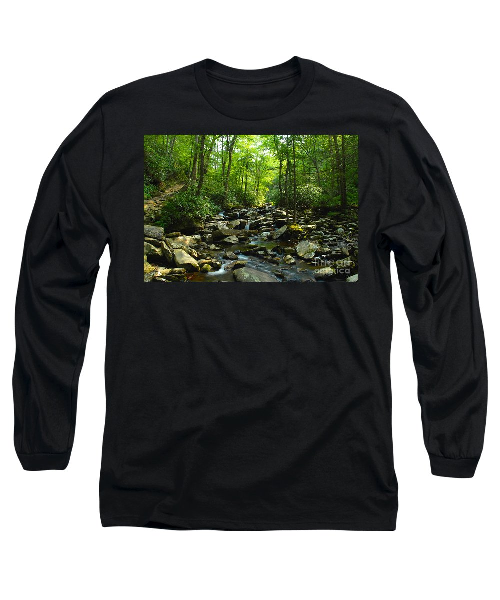 Trail Long Sleeve T-Shirt featuring the photograph Chimney Tops Trail by David Lee Thompson