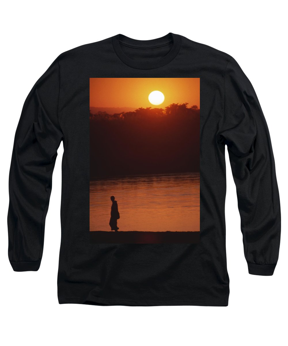 Sunset Long Sleeve T-Shirt featuring the photograph Chitwan Sunset by Patrick Klauss