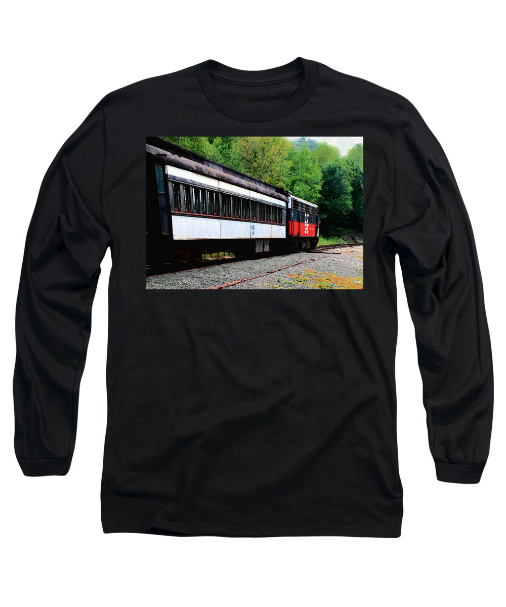 Train Long Sleeve T-Shirt featuring the photograph Chugging Along by RC DeWinter