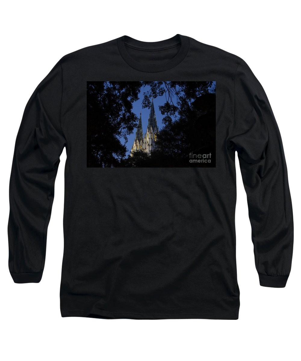 Church Steeple Long Sleeve T-Shirt featuring the photograph Church Steeples by David Lee Thompson