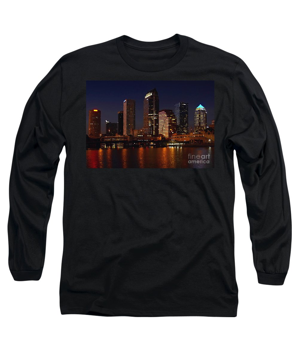 Tampa Florida Long Sleeve T-Shirt featuring the photograph Cigar City by David Lee Thompson