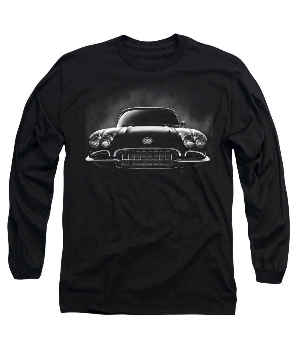 Corvette Long Sleeve T-Shirt featuring the digital art Circa '59 by Douglas Pittman