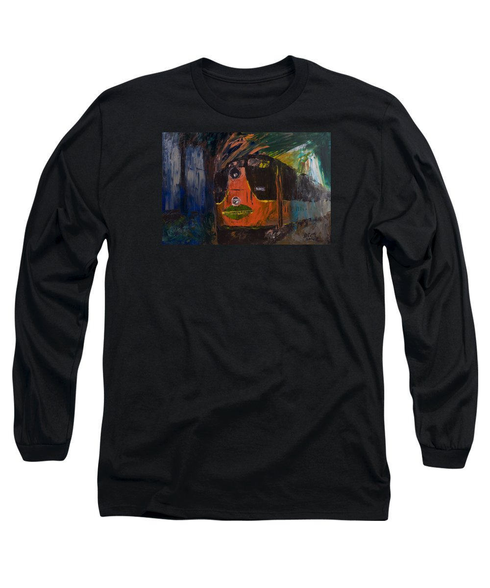 Train Long Sleeve T-Shirt featuring the painting City Of New Orleans by David McGhee