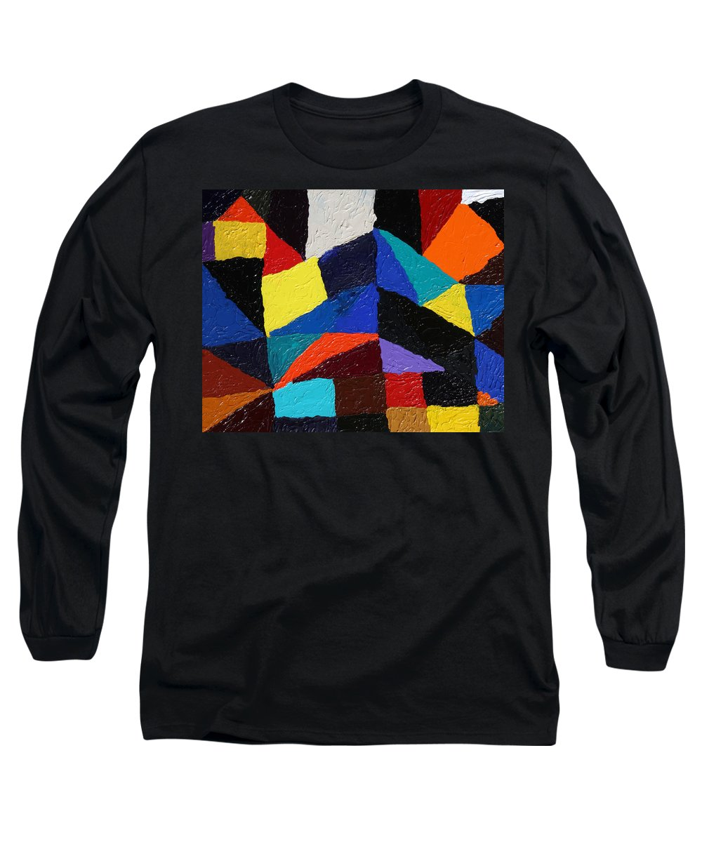 Fusionart Long Sleeve T-Shirt featuring the painting Cityscape by Ralph White