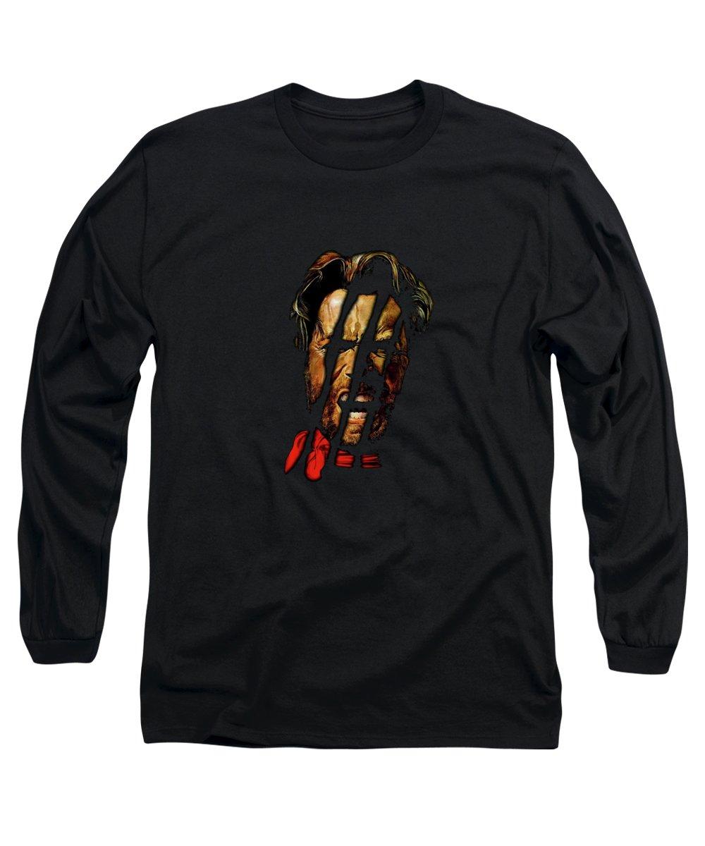 Clint Long Sleeve T-Shirt featuring the mixed media Clint by David Dehner