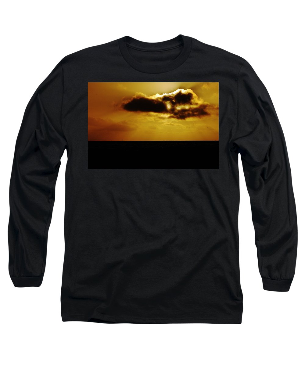 Clay Long Sleeve T-Shirt featuring the photograph Clouds Over The Ocean by Clayton Bruster