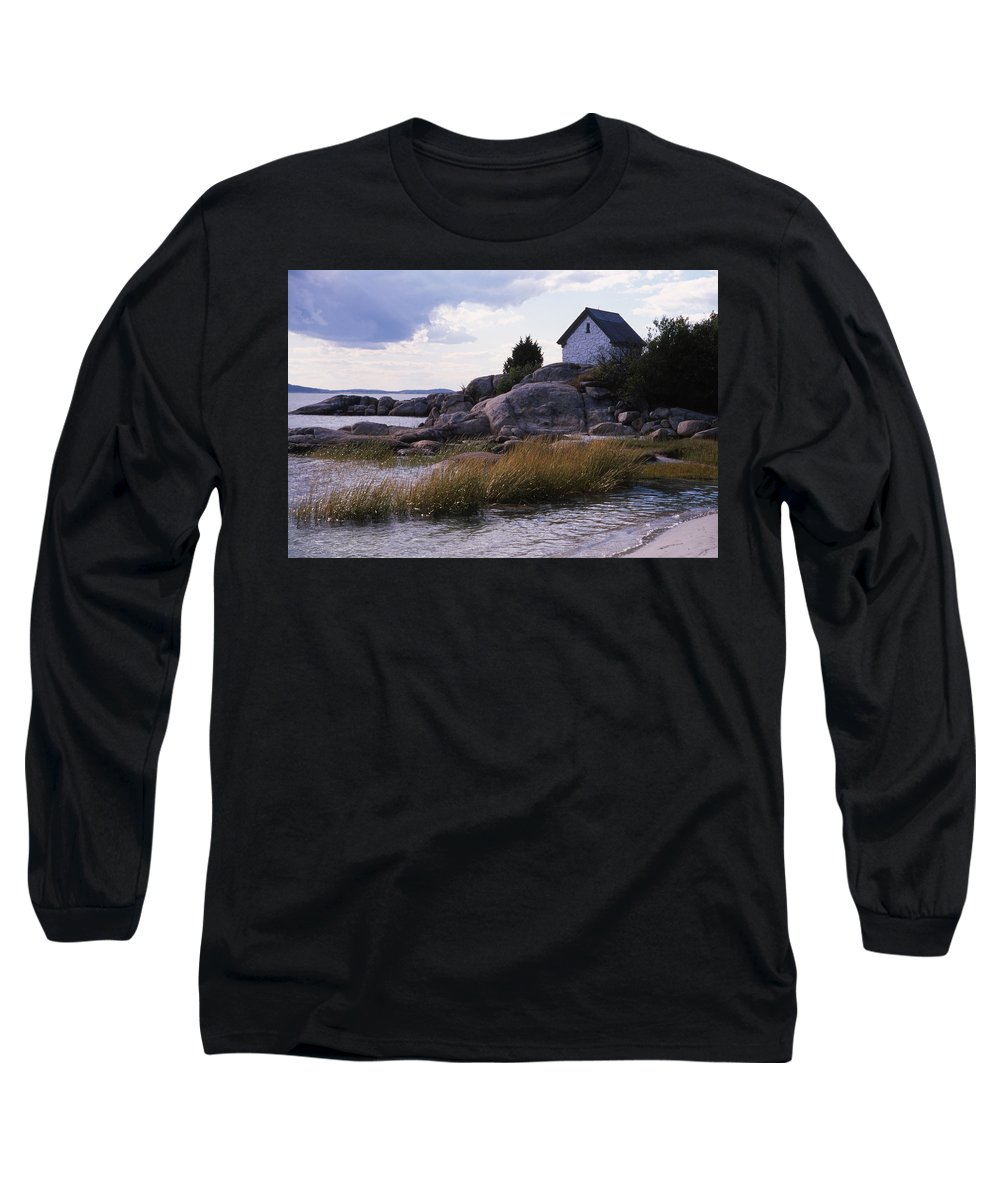 Landscape Beach Storm Long Sleeve T-Shirt featuring the photograph Cnrf0909 by Henry Butz