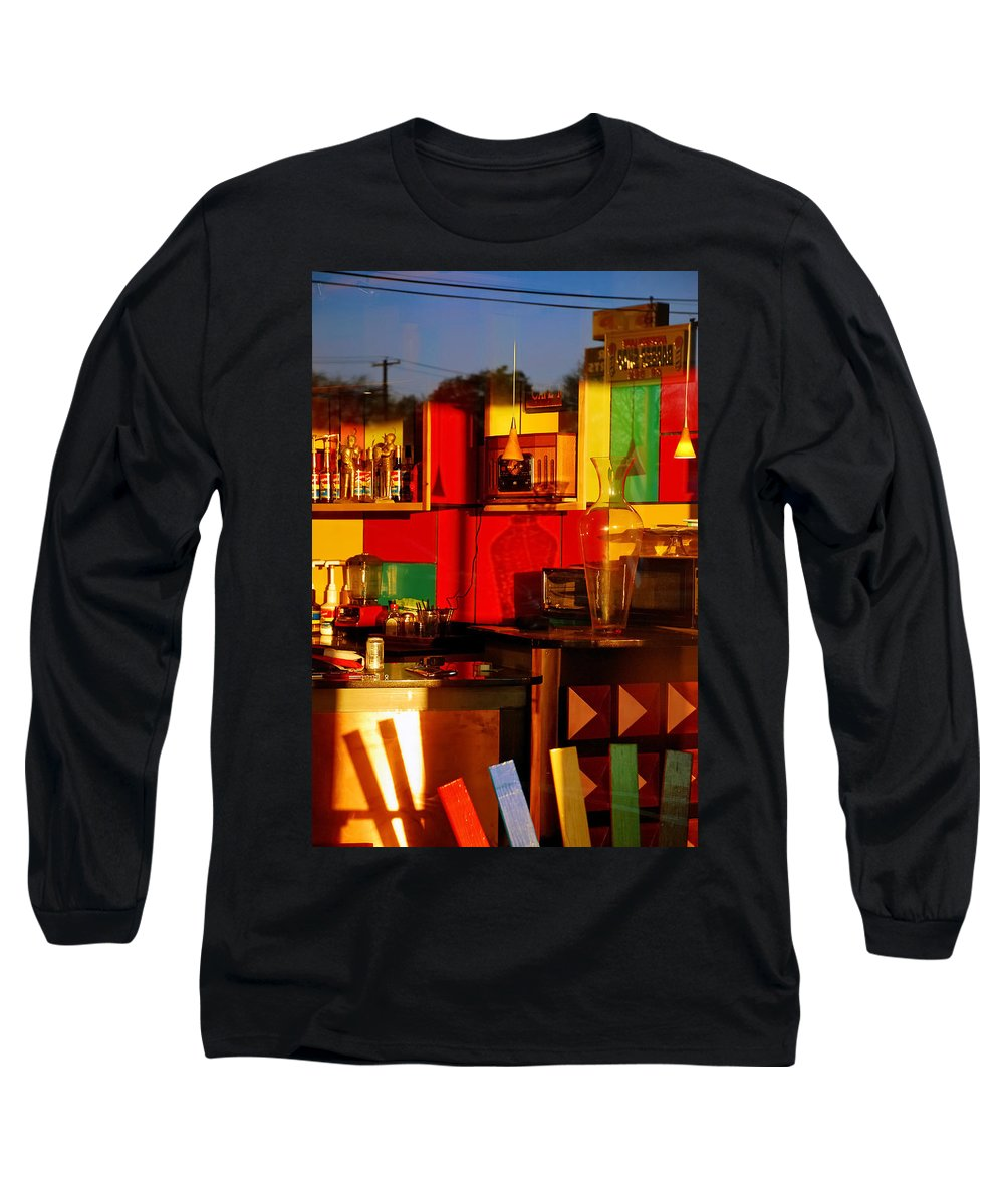 Skip Hunt Long Sleeve T-Shirt featuring the photograph Coffee Shop by Skip Hunt