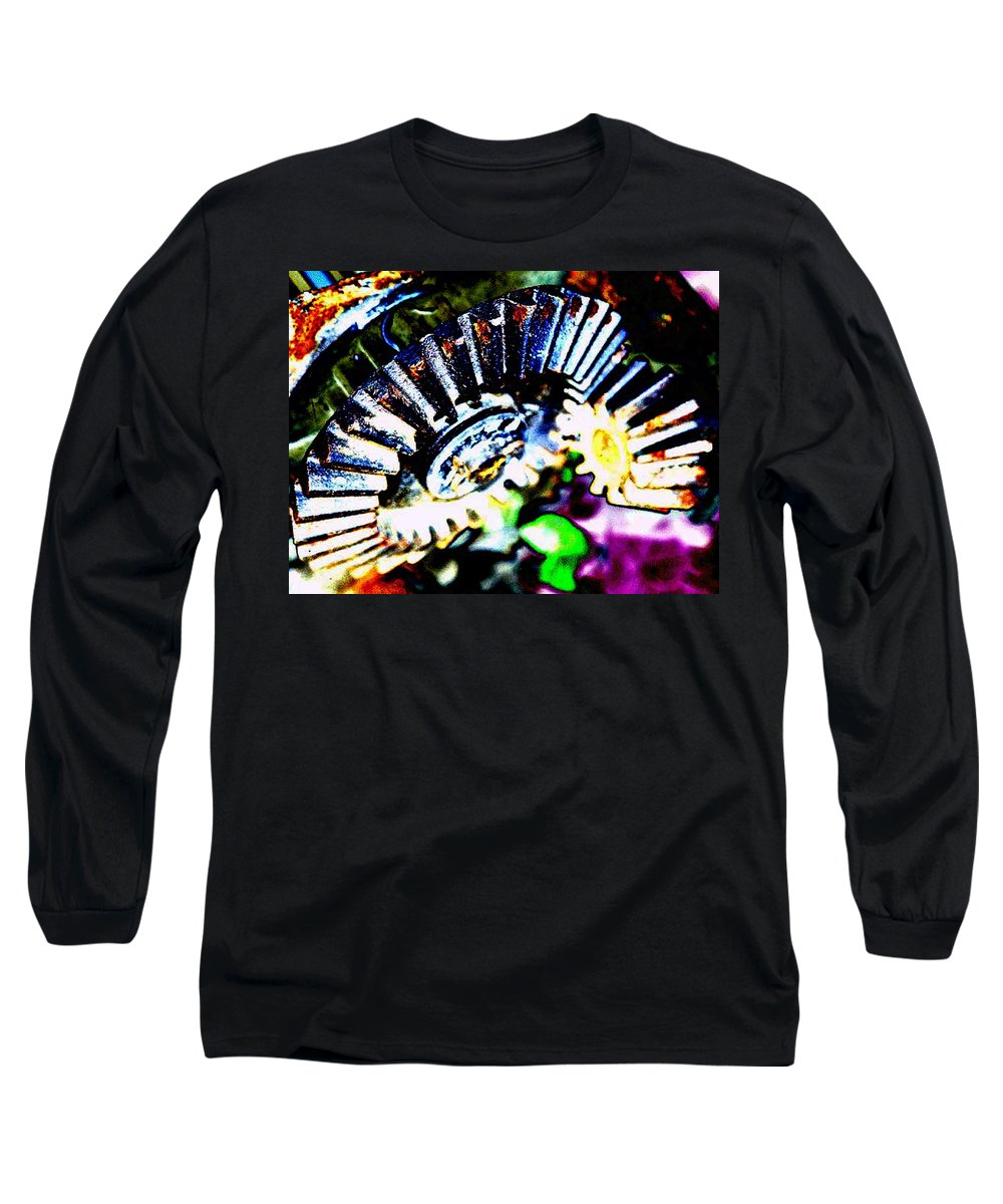 Cogs Long Sleeve T-Shirt featuring the digital art Cogs by Tim Allen