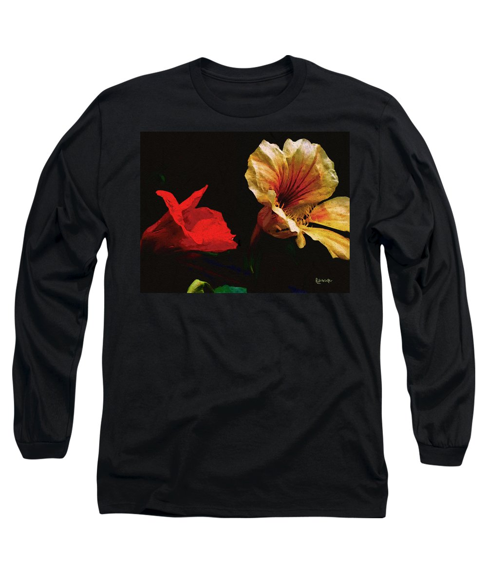 Flowers Long Sleeve T-Shirt featuring the painting Color And Light Suspended by RC DeWinter