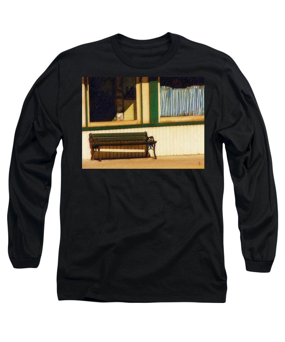 Bench Long Sleeve T-Shirt featuring the photograph Come Sit A Spell by Sandy MacGowan