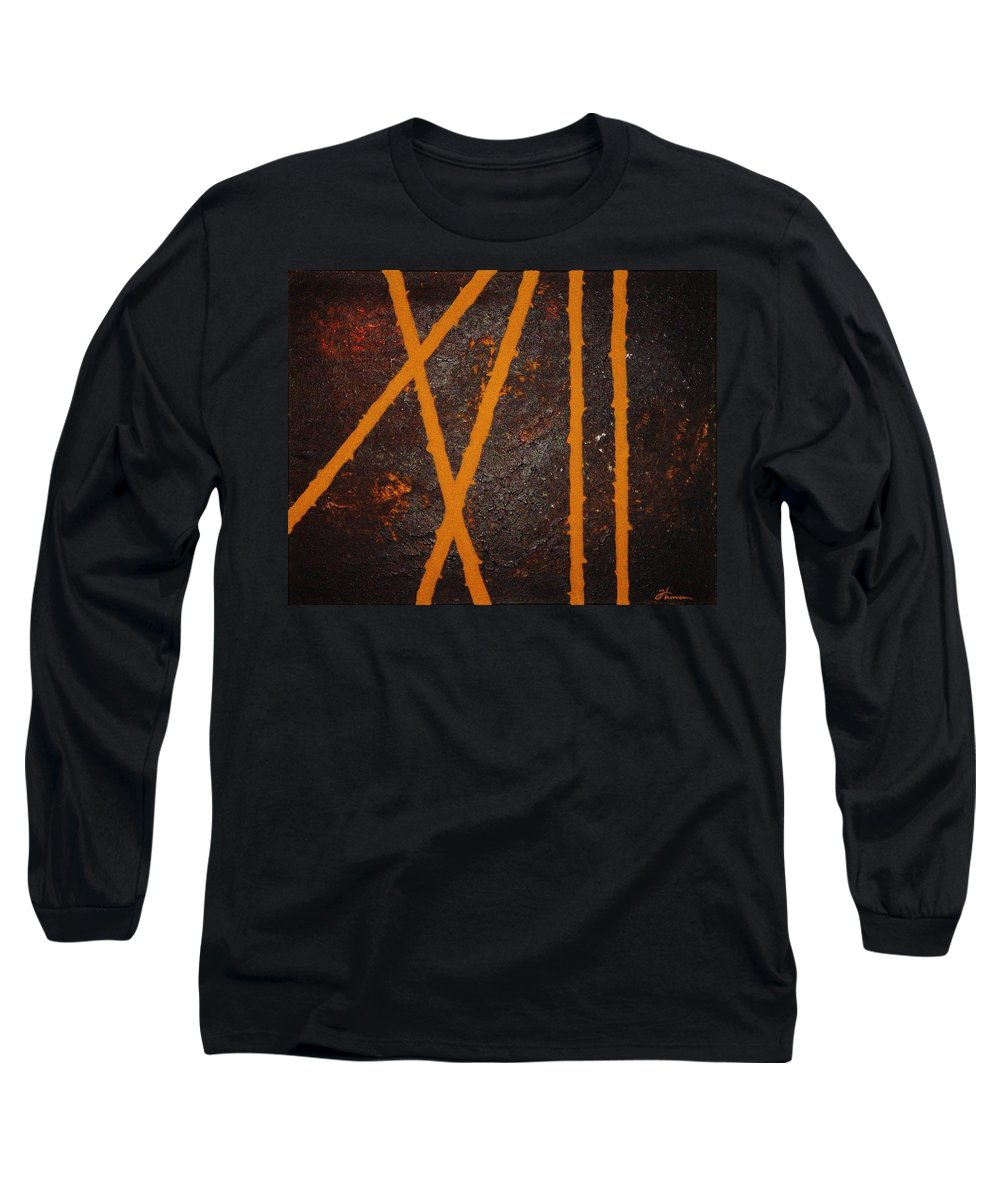 Original Long Sleeve T-Shirt featuring the painting Coming Together by Todd Hoover