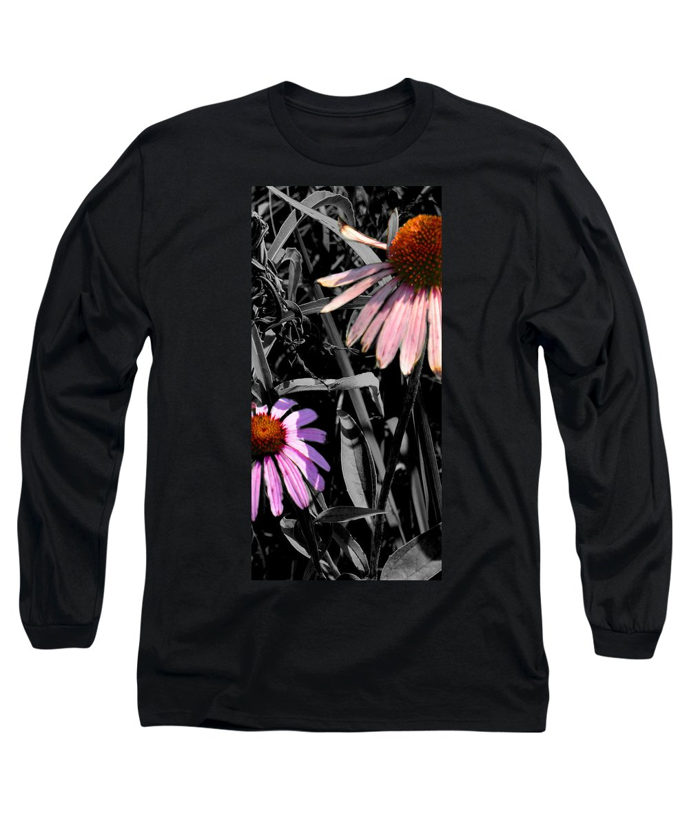 Purple Cone Flower Long Sleeve T-Shirt featuring the photograph Cone Flower Tapestry by Steve Karol