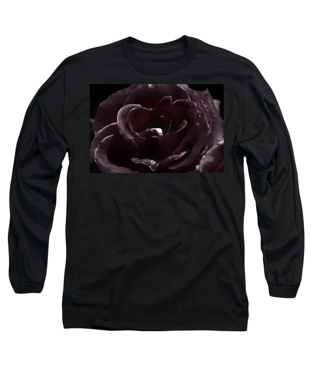 Clay Long Sleeve T-Shirt featuring the photograph Cranberry Rose by Clayton Bruster