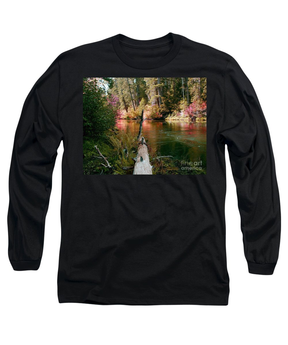 Fall Season Long Sleeve T-Shirt featuring the photograph Creek Fall by Peter Piatt