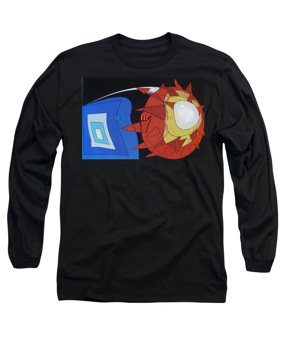 Abstract Long Sleeve T-Shirt featuring the digital art Crescendo One by Ian MacDonald