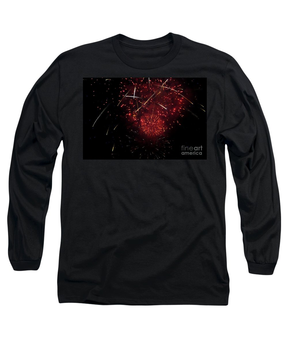 Clay Long Sleeve T-Shirt featuring the photograph Cross Fire by Clayton Bruster